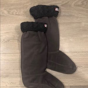 Hunter Cable Cuff Welly Socks Size MM
